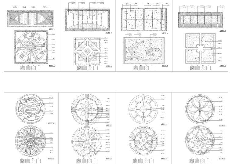 欧式室内外构件装饰CAD图块