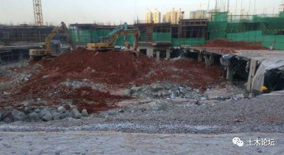 地库连续坍塌/破坏,大多在顶板回填土阶段_7