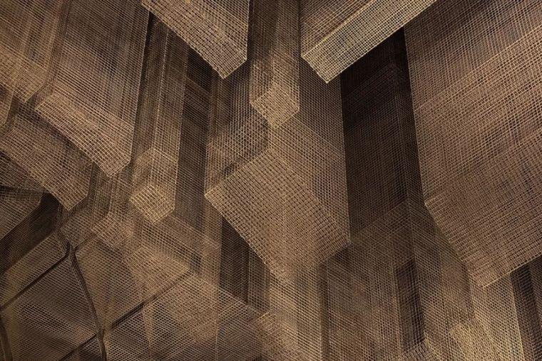 纽约教堂餐厅Fillmore,雕塑式吊顶_8