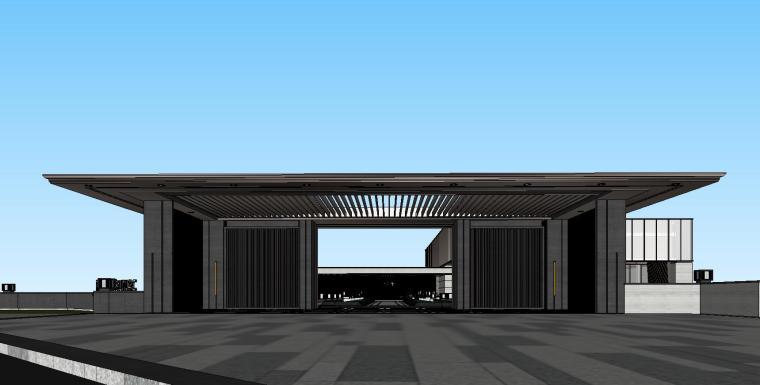 新中式风格融创示范区建筑模型设计