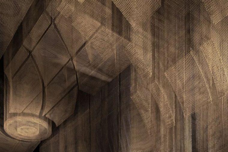 纽约教堂餐厅Fillmore,雕塑式吊顶_9