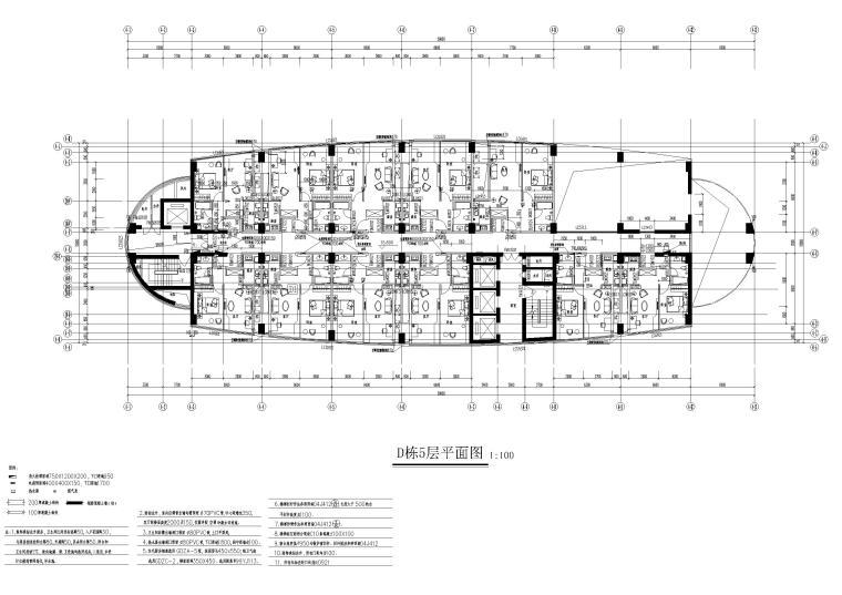D栋5层平面图