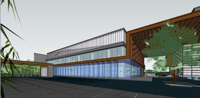 融创西安现代风格示范区建筑模型设计 (3)