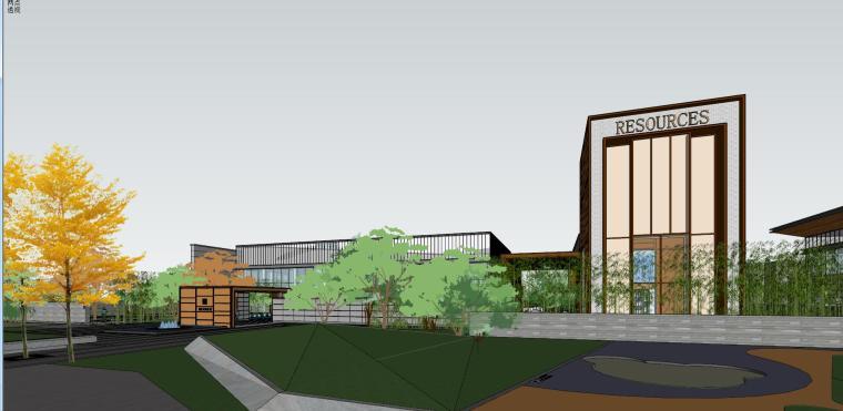 融创西安现代风格示范区建筑模型设计 (1)