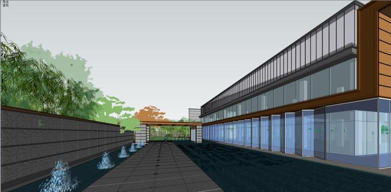 融创西安现代风格示范区建筑模型设计 (5)
