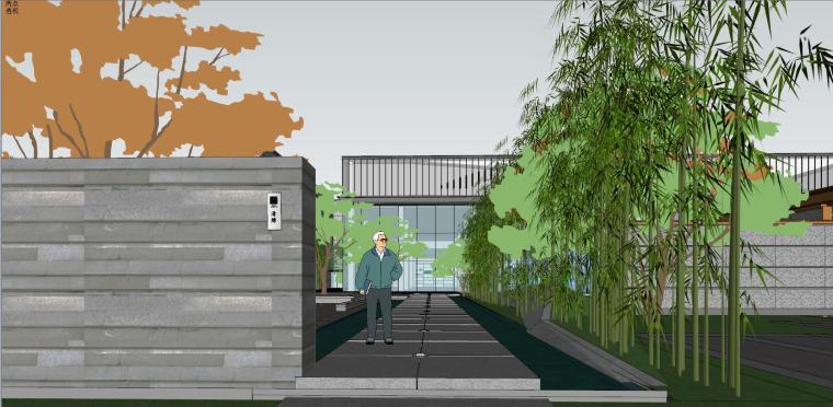 融创西安现代风格示范区建筑模型设计 (4)