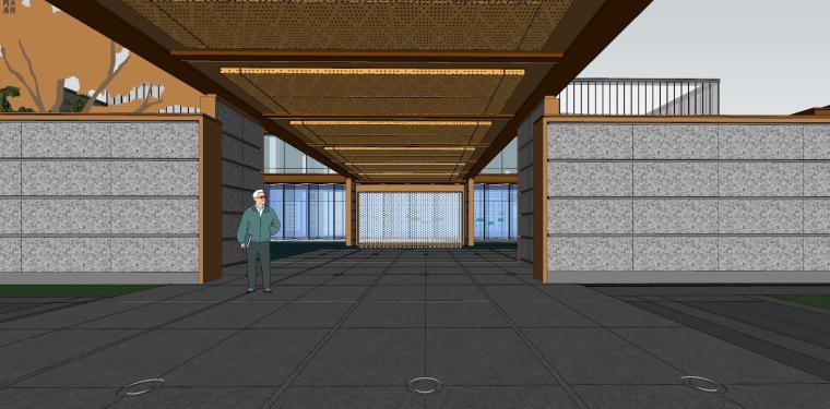 融创西安现代风格示范区建筑模型设计 (6)