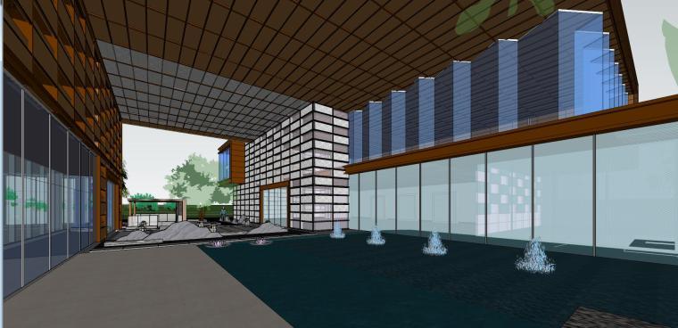 融创西安现代风格示范区建筑模型设计 (7)