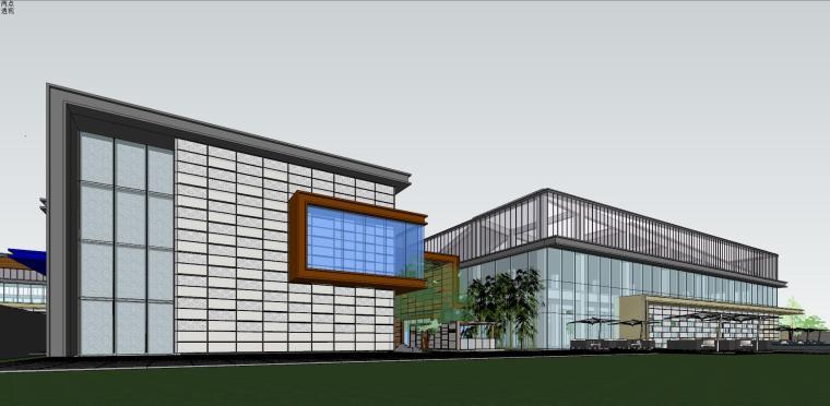 融创西安现代风格示范区建筑模型设计 (8)