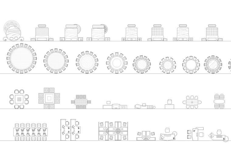 室内CAD装饰家具图块-CAD图块