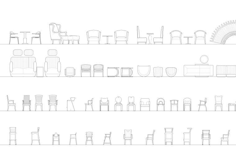 室内CAD装饰家具图块-CAD图块2