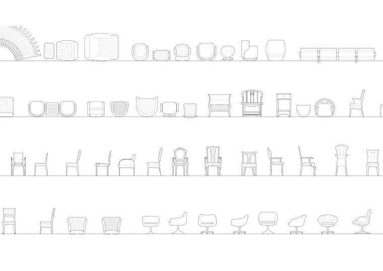 室内CAD装饰家具图块-CAD图块3