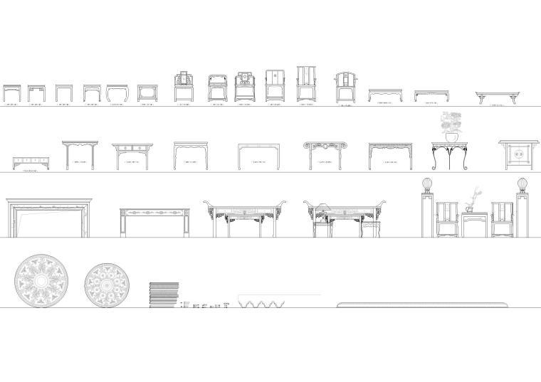 室内CAD装饰家具图块-CAD图块4