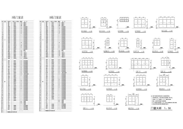 A、B栋门窗表