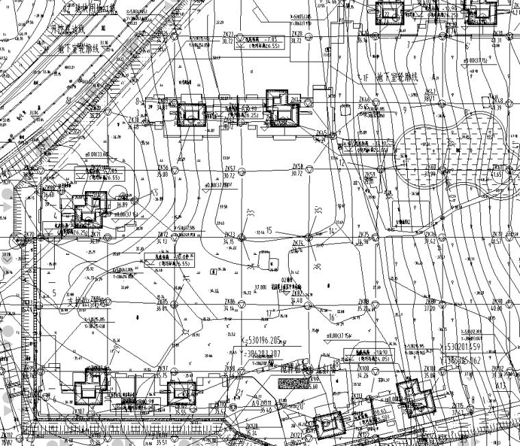高层住宅楼项目基坑支护工程设计图纸|CAD