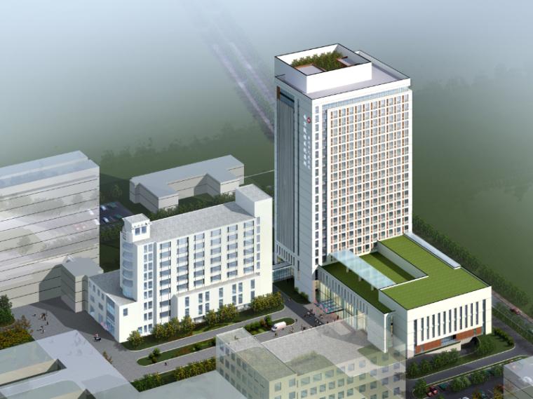 南京某人民医院新建病房大楼建筑方案文本