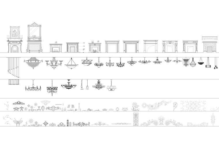 精选室内CAD装饰图块-常用家具图块6