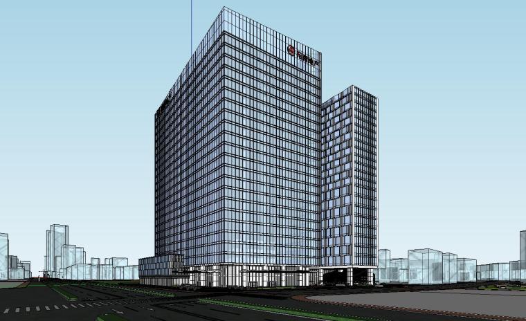 南京国际金融中心·汉中公馆投标建筑模型