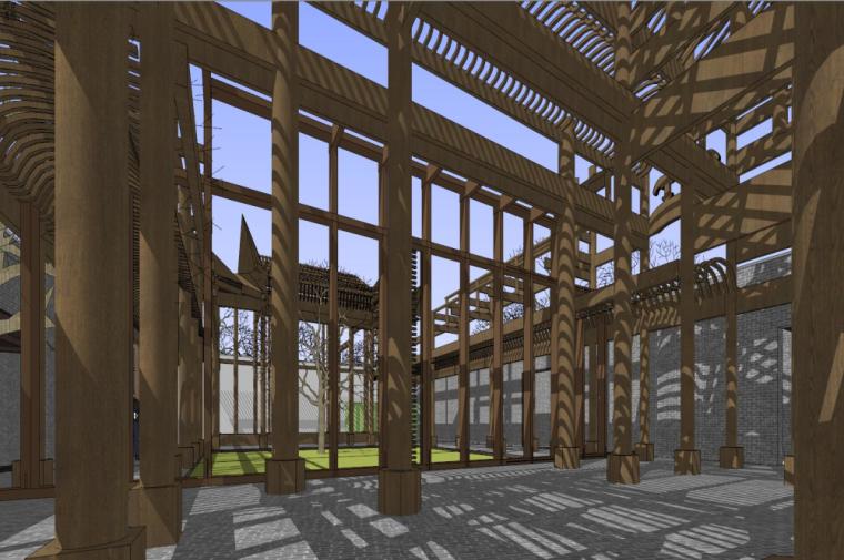 知名地产中式风格居住区建筑模型设计 (5)