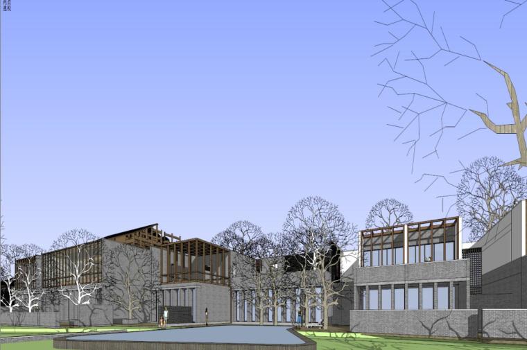 知名地产中式风格居住区建筑模型设计 (7)