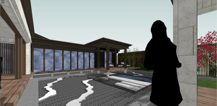 中式独栋别墅建筑模型设计 (6)