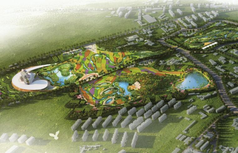 [新疆]水上乐园综合公园景观概念设计-十七户湿地效果图