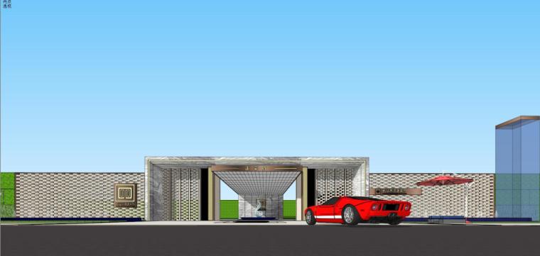 [湖南]新古典风格示范区建筑模型设计-新古典风格示范区建筑模型设计 (1)