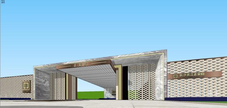 [湖南]新古典风格示范区建筑模型设计-新古典风格示范区建筑模型设计 (2)