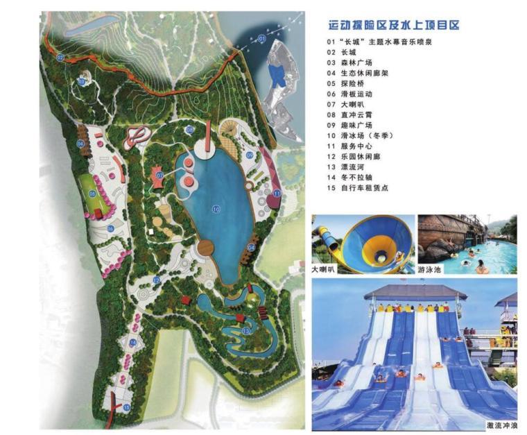 [新疆]水上乐园综合公园景观概念设计-运动探险区及水上项目区