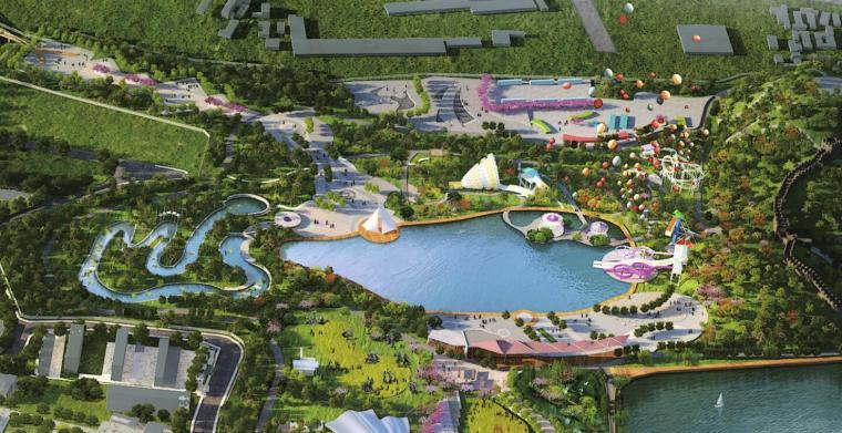 [新疆]水上乐园综合公园景观概念设计-运动探险区及水上项目区效果图
