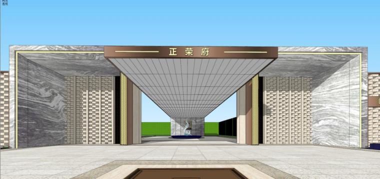 [湖南]新古典风格示范区建筑模型设计-新古典风格示范区建筑模型设计 (3)