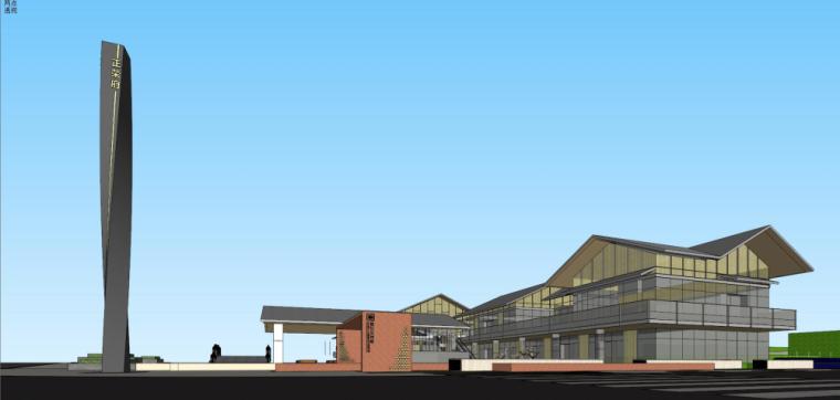 [湖南]新古典风格示范区建筑模型设计-新古典风格示范区建筑模型设计 (5)