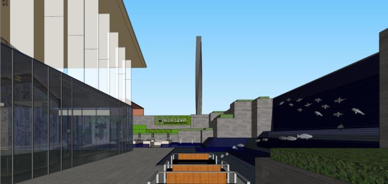 [湖南]新古典风格示范区建筑模型设计-新古典风格示范区建筑模型设计 (6)