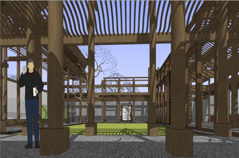 知名地产中式风格居住区建筑模型设计 (4)