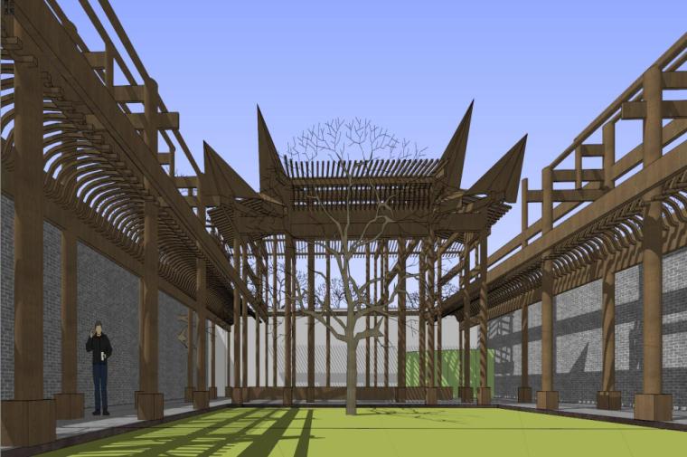知名地产中式风格居住区建筑模型设计 (6)