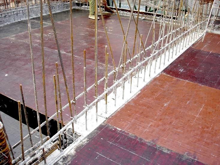 32确保顶板支模后,剪力墙混凝土高于板面10mm 。
