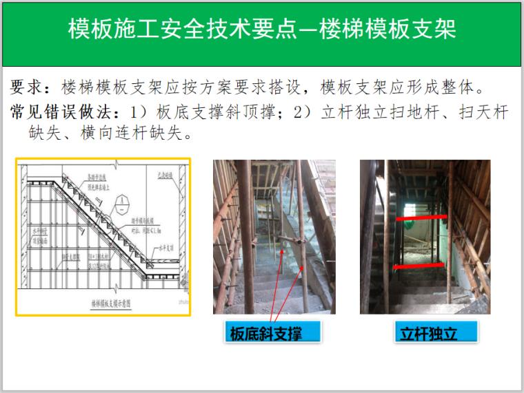 模板施工安全技术要点—楼梯模板支架