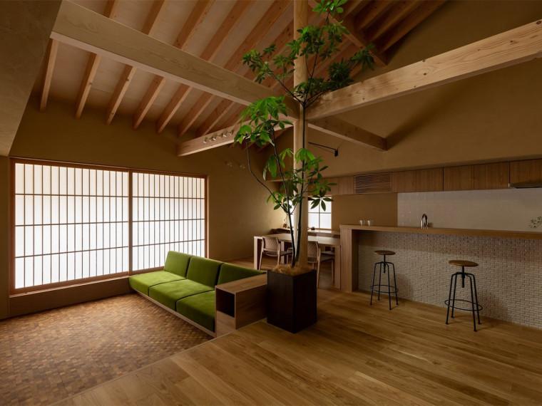 日式简约风双花园住宅