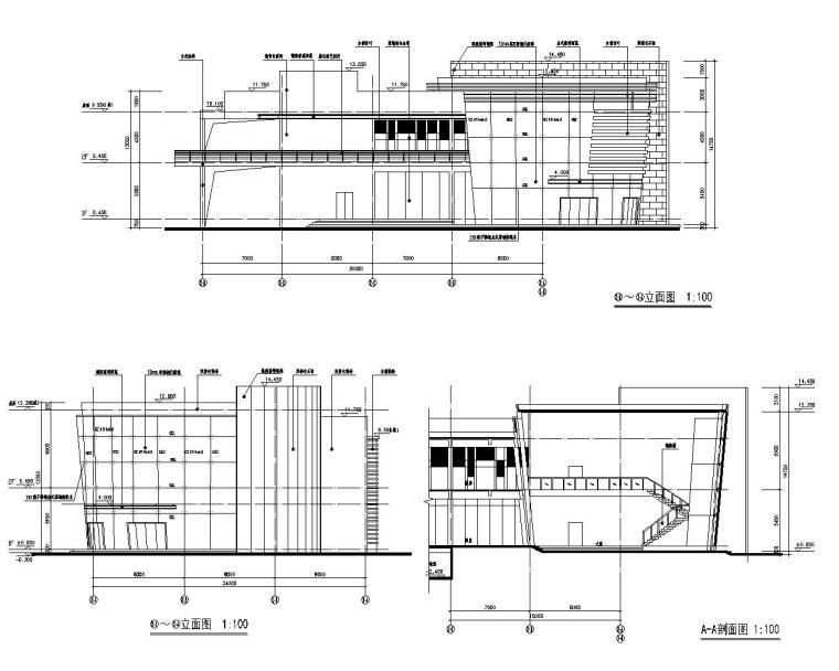 某会所网架顶钢结构设计施工图(CAD)