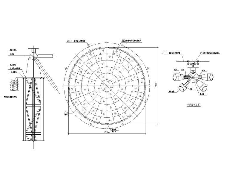 屋顶结构平面图