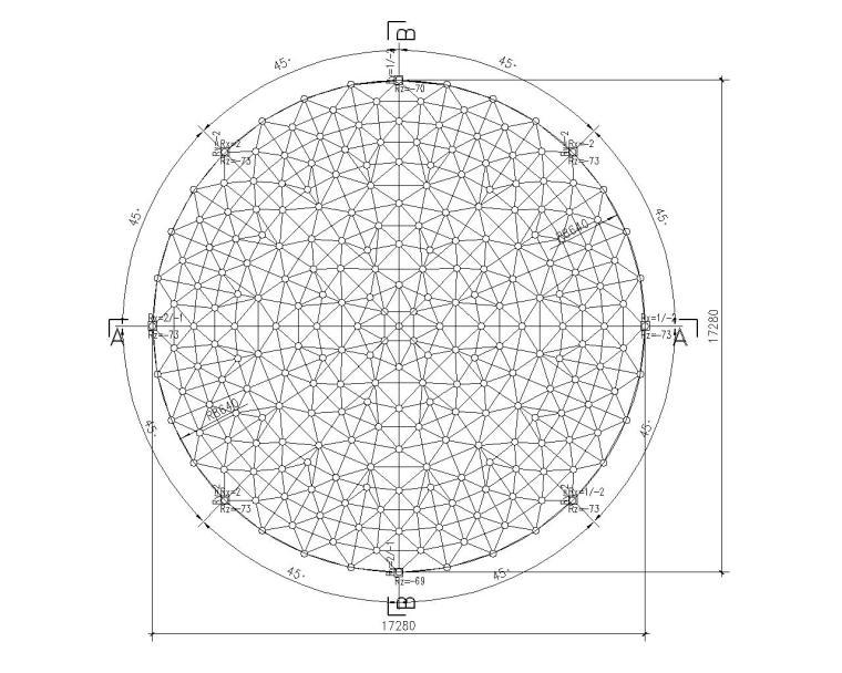 网架平面布置图