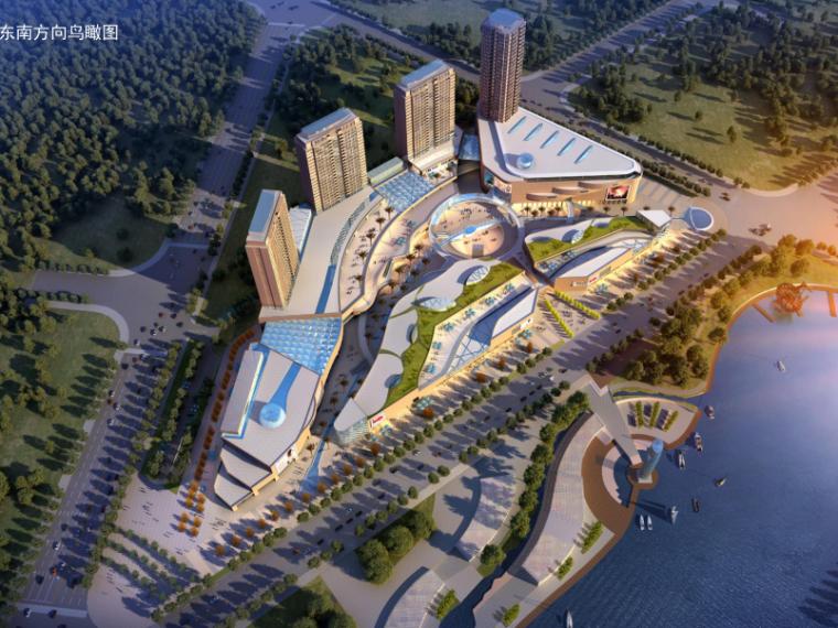 易县新区滨河城市综合体规划与建筑方案文本-鸟瞰图