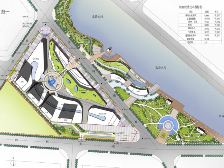 易县新区滨河城市综合体规划与建筑方案文本-总平面图