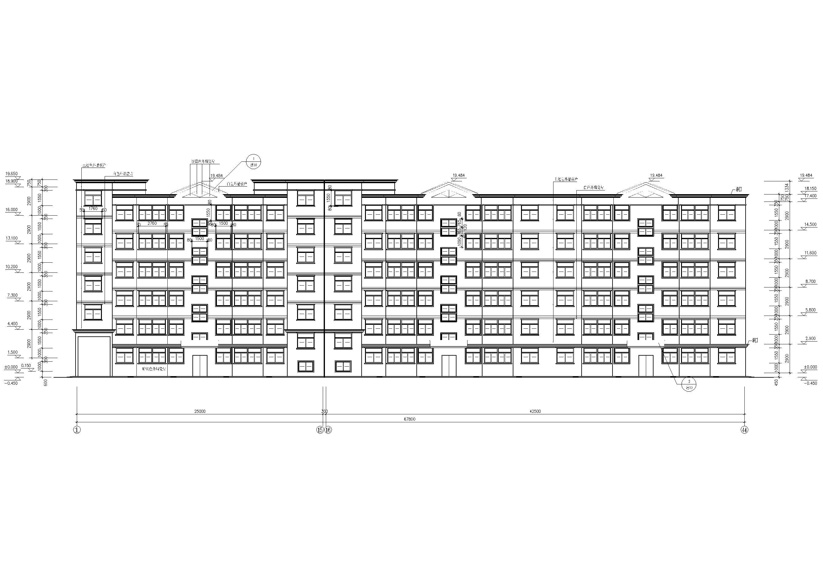 某七层多层住宅建筑方案扩初图