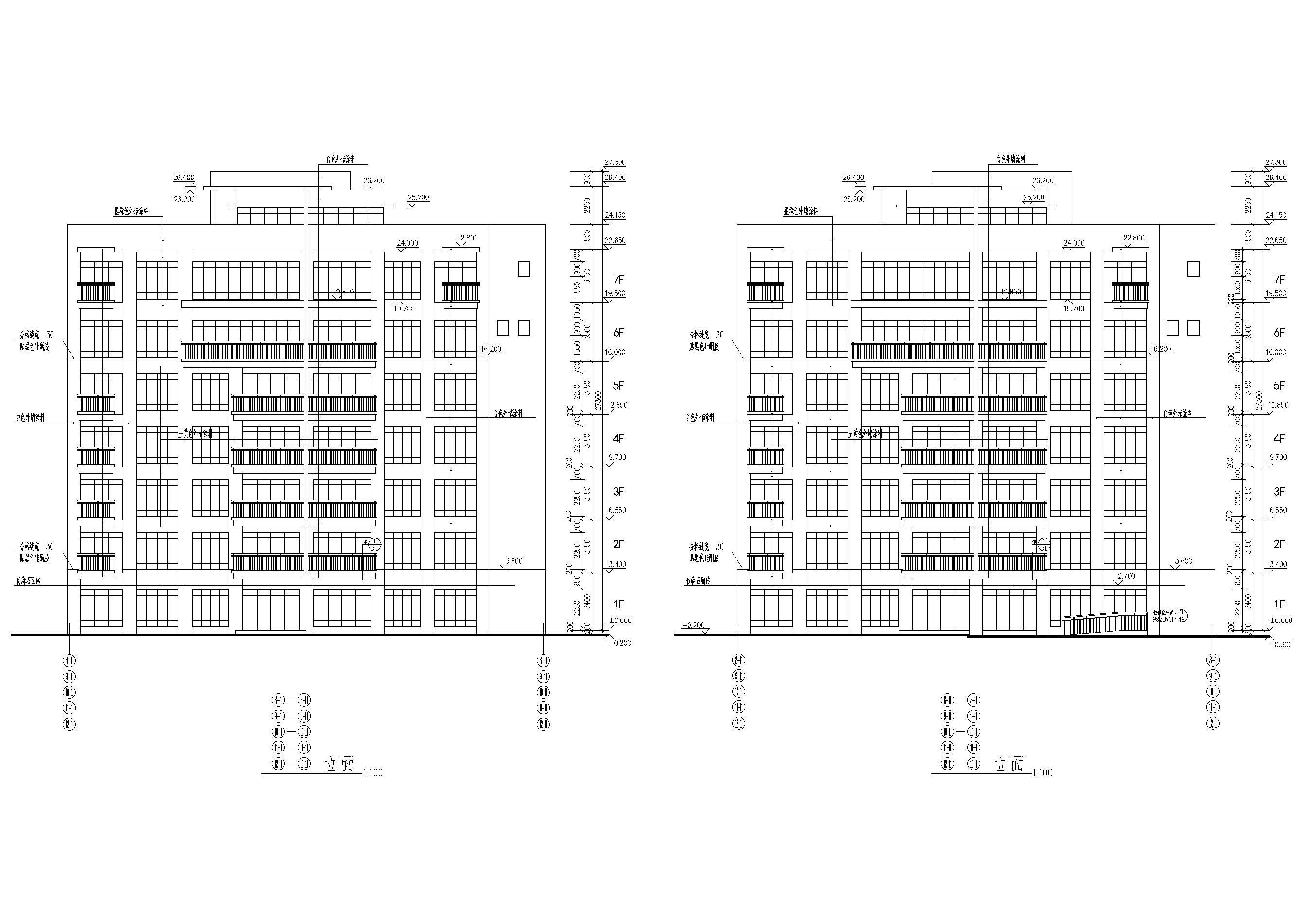 东莞某八层多层住宅建筑方案扩初图