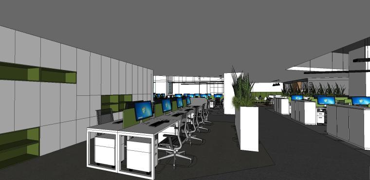 新方重庆沙区总部办公室内su模型设计 (5)
