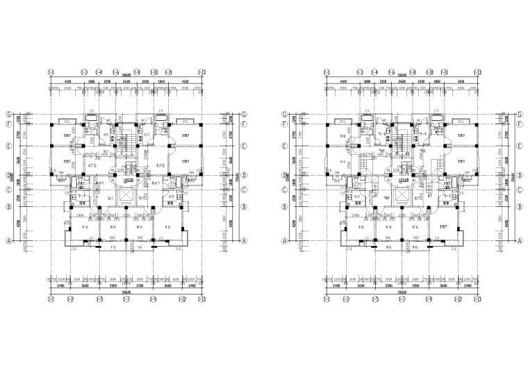 [长春]金玉良园小区高层建筑施工图-八~九层平面图