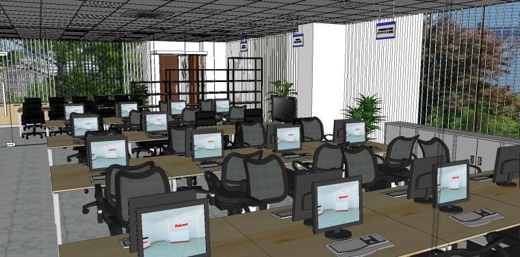 现代简约办公室室内模型设计-现代简约办公室室内模型设计 (1)