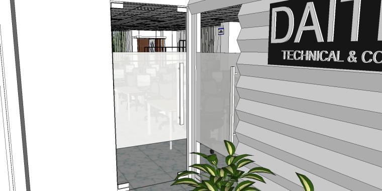 现代简约办公室室内模型设计-现代简约办公室室内模型设计 (2)