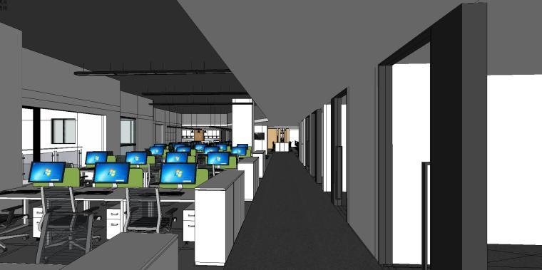 新方重庆沙区总部办公室内su模型设计 (6)